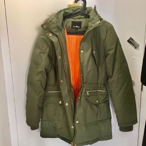 Army green puffer jacket